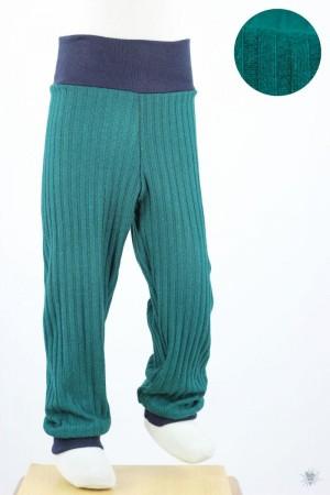Kinder-Leggings aus Ripp-Viskosejersey smaragd
