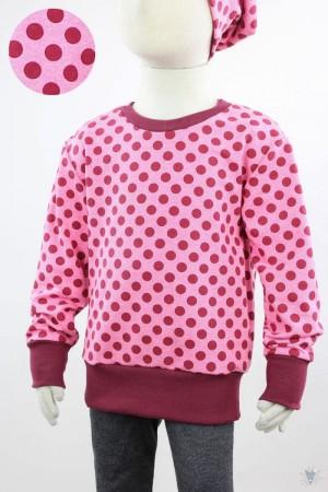 Kinder-Longsleeve mit Punkten auf pink