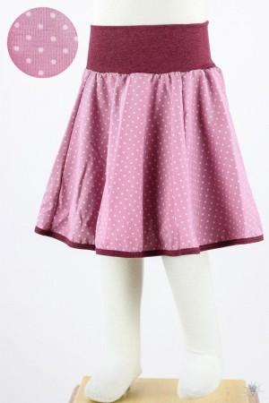 Kinder-Tellerrock mit Punkten auf rosa