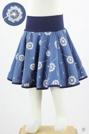 Kinder-Tellerrock mit Pusteblumen auf blau