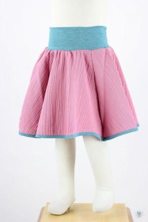 Kinder-Tellerrock Musselin, pink