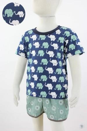 marine Kinder-T-Shirt mit Elefanten
