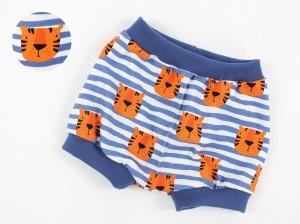 Höschen blau weiß gestreift mit Tigern