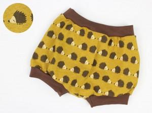 Höschen gelb mit Igeln Bio-Stoffe