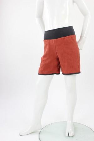 kurze Hose für Kinder Bio-Musselin terracotta