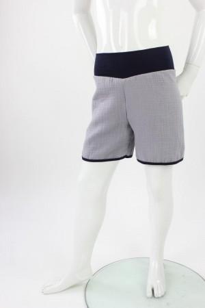 kurze Hose für Kinder Bio-Musselin grau