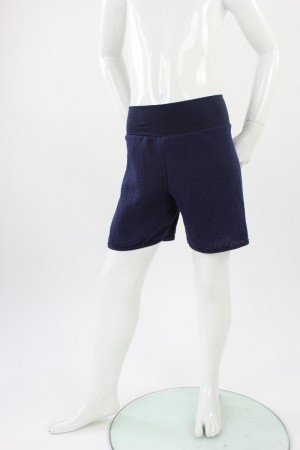 kurze Hose für Kinder Bio-Musselin marineblau