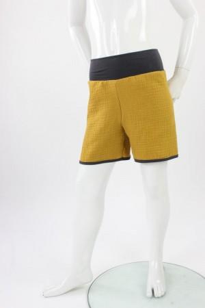 kurze Hose für Kinder Bio-Musselin gelb