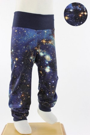 Kinder-Leggings BLUE GALAXY 110/116
