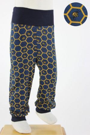 Kinder-Leggings marineblau mit Bienenwaben