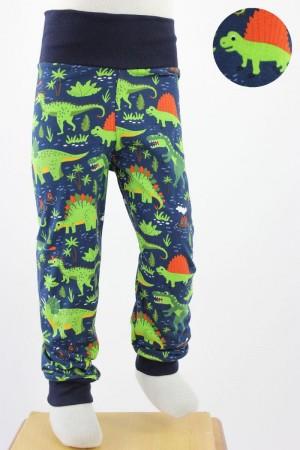 Kinder-Leggings dunkelblau mit Dinos
