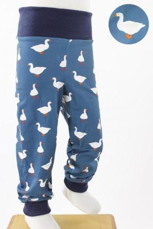 Kinder-Leggings blau mit Gänsen