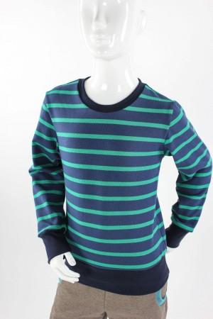 Kinder-Langarmshirt aus Strickjersey blau/grün