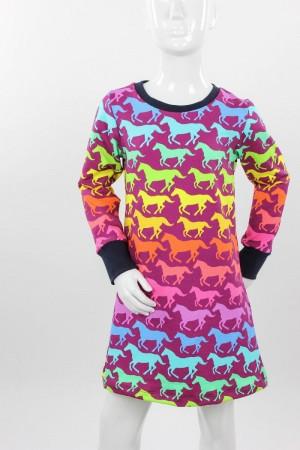 Kinder-Jerseykleid mit Discopferden