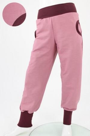 Tobehose GOTS rosa und beere