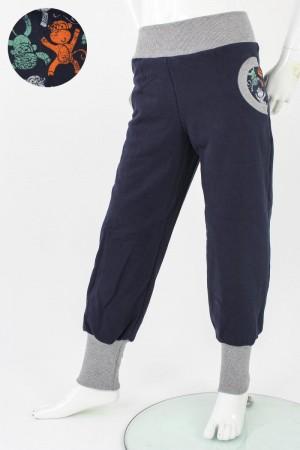 Tobehose für Kinder marineblau mit Affen 86/92