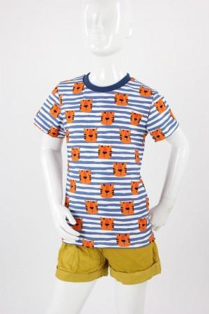 Kinder-T-Shirt  gestreift mit Tigern