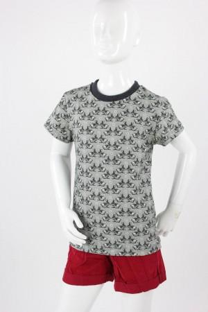 Kinder-T-Shirt grau mit Hasen
