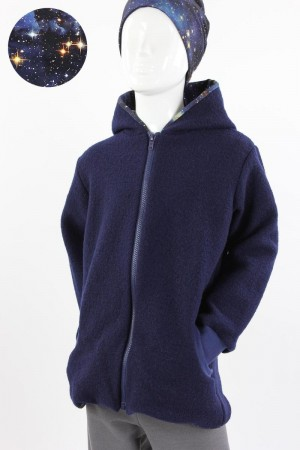 Kinder-Wolljacke BLUE GALAXY