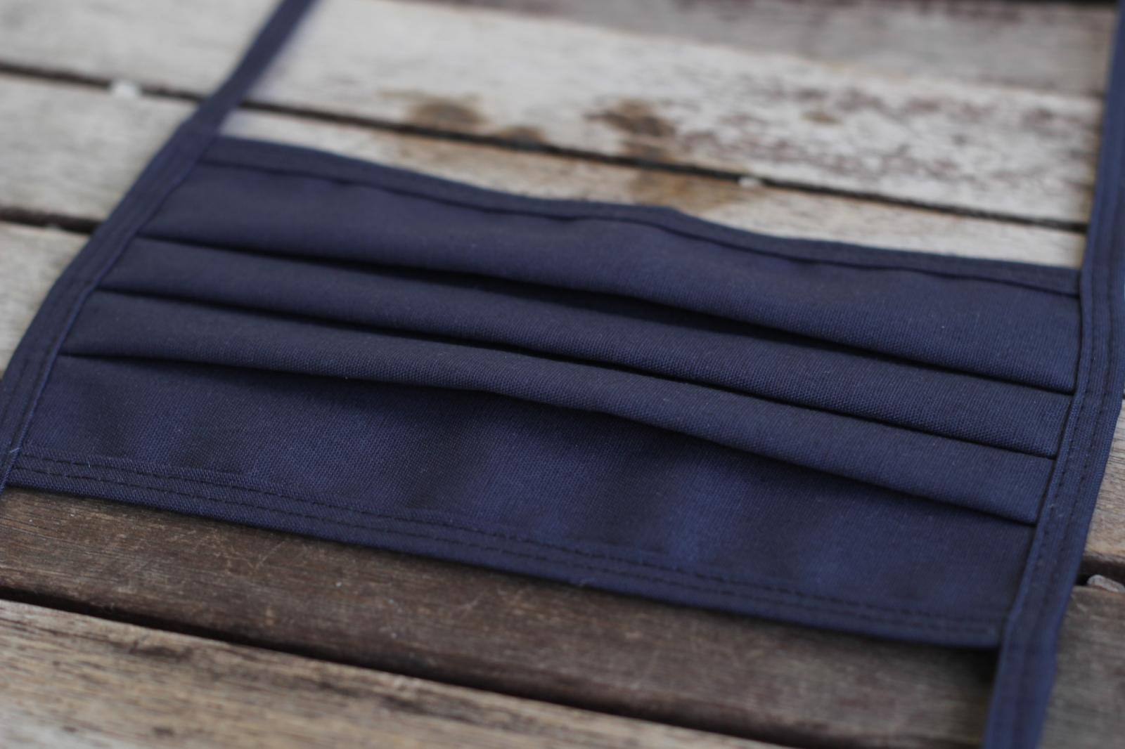 Mundbedeckung Mund-Nasen-Maske waschbar marineblau